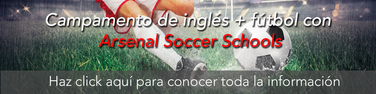 Campamento de inglés + fútbol con Arsenal Soccer Schools