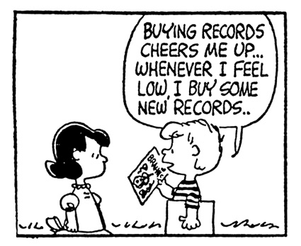 """En esta viñeta de Peanuts encontramos uno de los phrasal verbs más conocidos, """"cheer up"""", que significa """"animar"""" (a alguien) o """"alegrarse""""."""