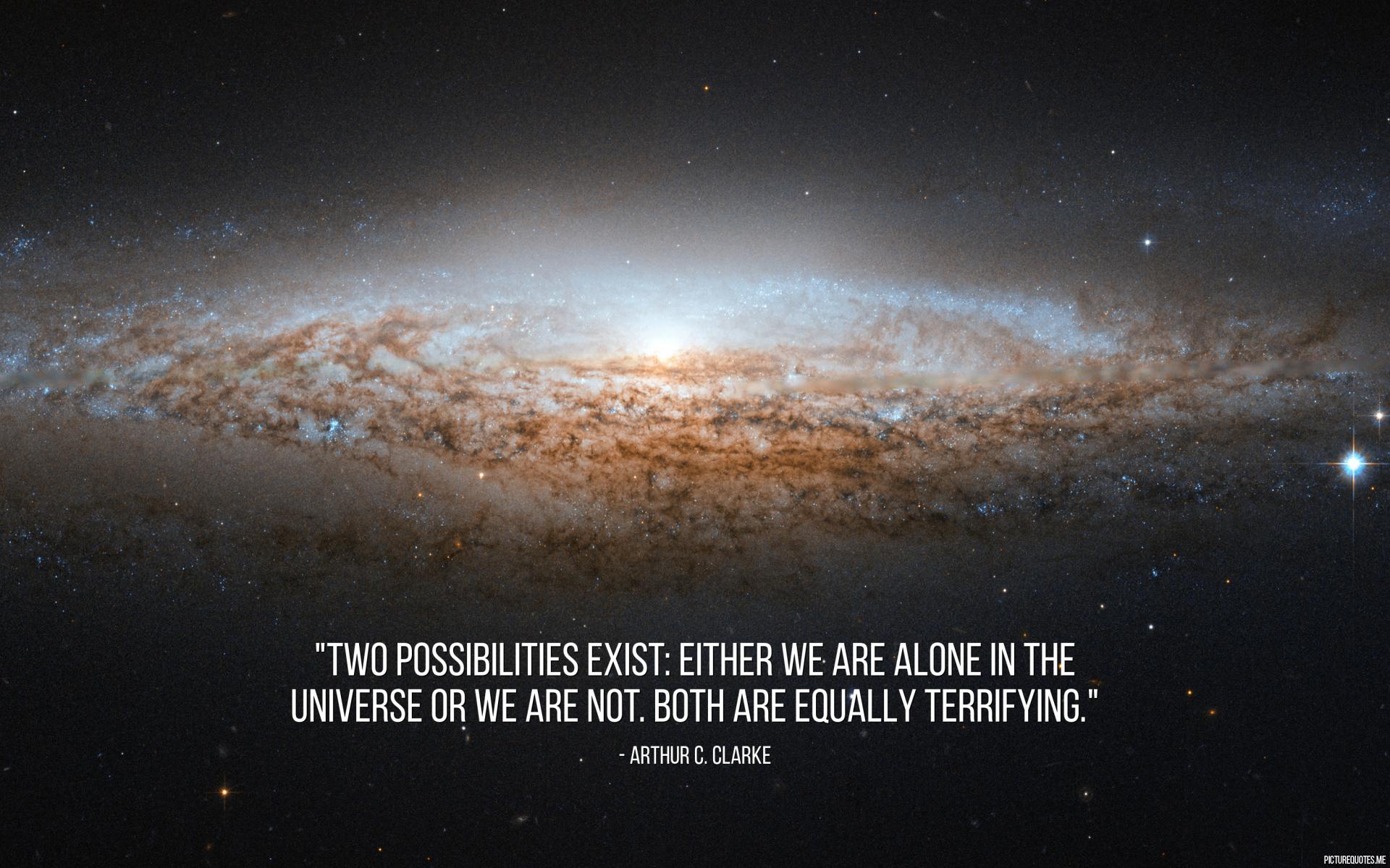 Cita del autor de ciencia-ficción Arthur C. Clarke. Es un buen ejemplo del uso de 'either' y 'both'.