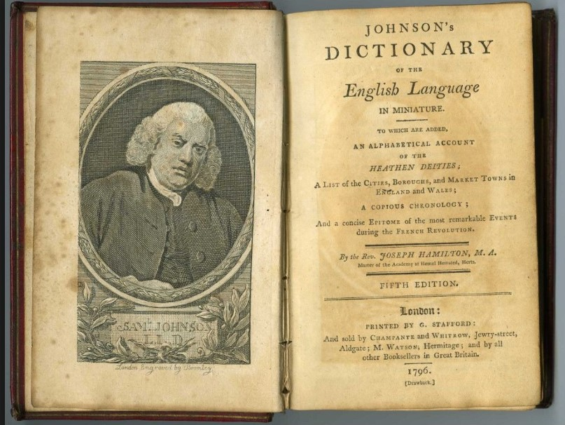 Dr Johnson's Dictionary / D'Youville College Archives