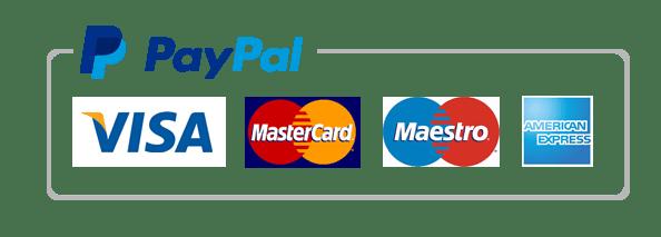 Pago online con PayPal o con tarjeta